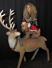Leona Lewis celebra la Navidad rodeada de animales