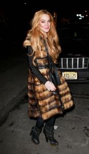 Lindsay Lohan, al más puro estilo Cruela de Vil