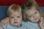 Las pequeñas Leonor y Sofía acapararon toda la felicitación en el 2008