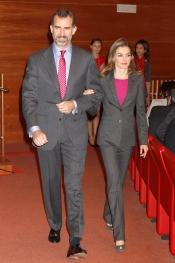 Letizia y el Príncipe Felipe, a juego