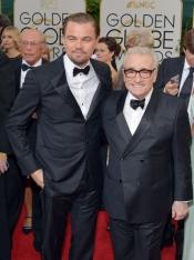 DiCaprio y Martin Scorsese, en los Globos de Oro 2014