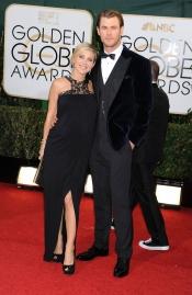 Elsa Pataky, embarazada y con Chris Hemsworth en los Globos de Oro 2014