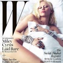 Miley Cyrus estrena look en la portada de W Magazine