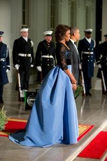 El vestido de princesa de Michelle Obama
