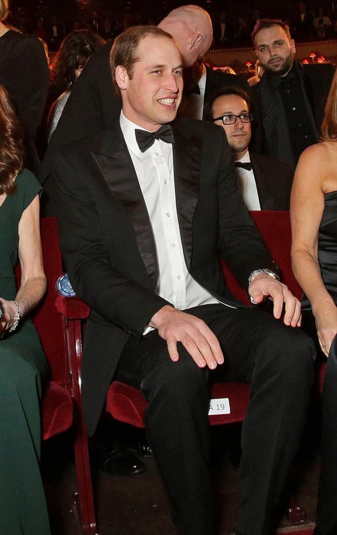 El Príncipe Guillermo no faltó a la cita de los BAFTA 2014 en Londres