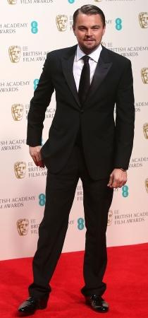 Leonardo DiCaprio, el gran favorito en los Oscars, durante los premios BAFTA 2014