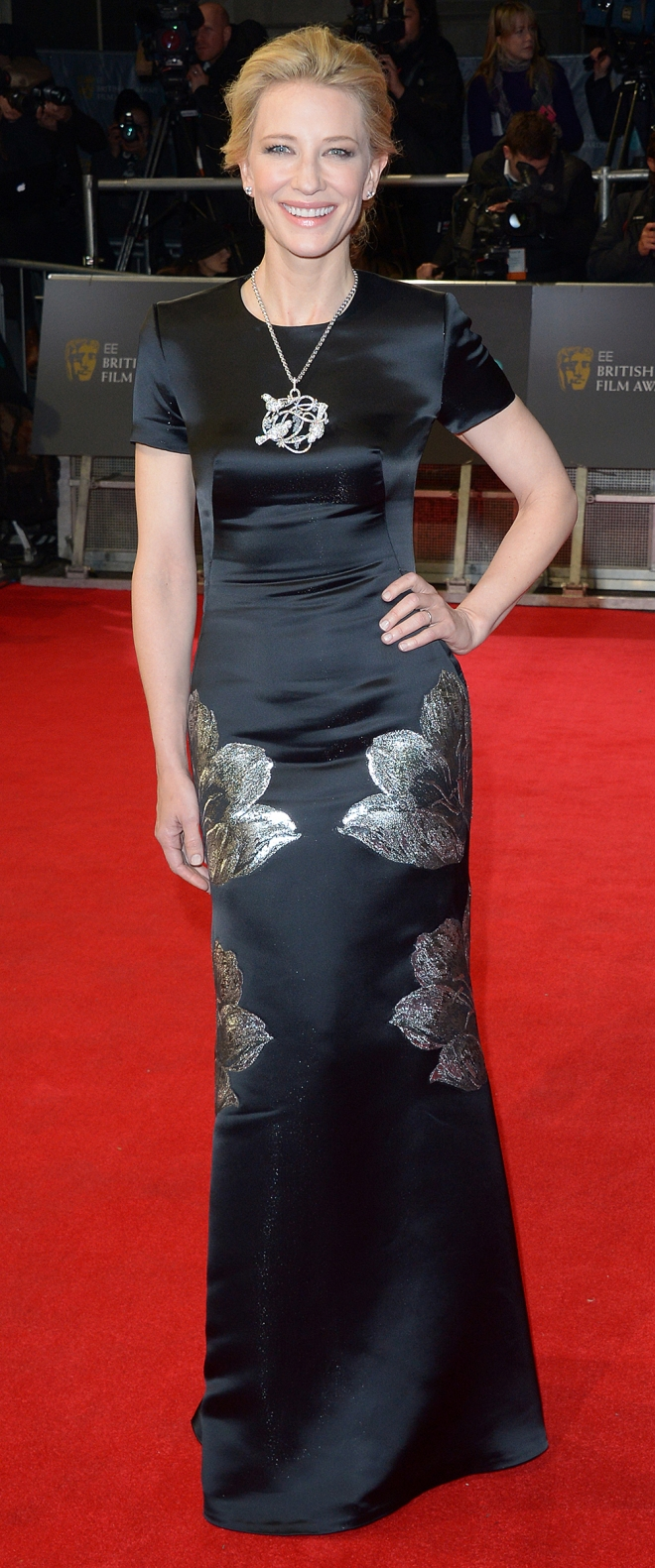 Cate Blanchett, con un look elegante y simple en los BAFTA 2014