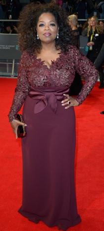 Oprah Winfrey acertó en la elección de su vestido para los BAFTA 2014