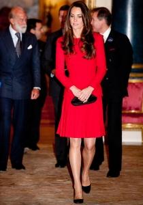 Kate Middleton, en su línea, guapa y elegante