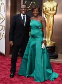 Viola Davis y Julius Tennon, en la alfombra roja de los Oscars 2014