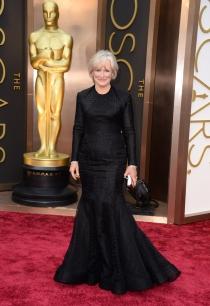 Glenn Close, en la alfombra roja de los Oscars 2014
