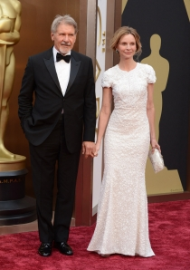 Harrison Ford y Calista Flockhart, en la alfombra roja de los Oscars 2014