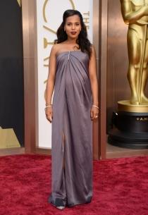 Kerry Washington, en la alfombra roja de los Oscars 2014