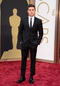 Zac Efron, en la alfombra roja de los Oscars 2014