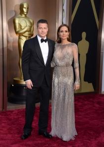 Brad Pitt y Angelina Jolie, en la alfombra roja de los Oscars 2014