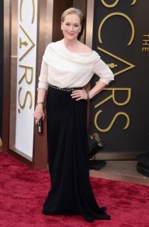 Meryl Streep, en la alfombra roja de los Oscars 2014