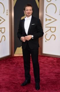 Jeremy Renner, en la alfombra roja de los Oscars 2014