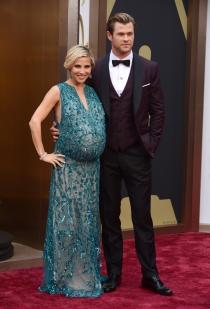 Elsa Pataky y Chris Hemsworth, en la alfombra roja de los Oscars 2014
