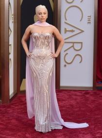 Lady Gaga, en la alfombra roja de los Oscars 2014
