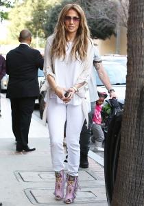 Los botines más ridículos de Jennifer Lopez