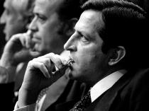 Adolfo Suárez junto a sus compañeros en el Congreso de los Diputados