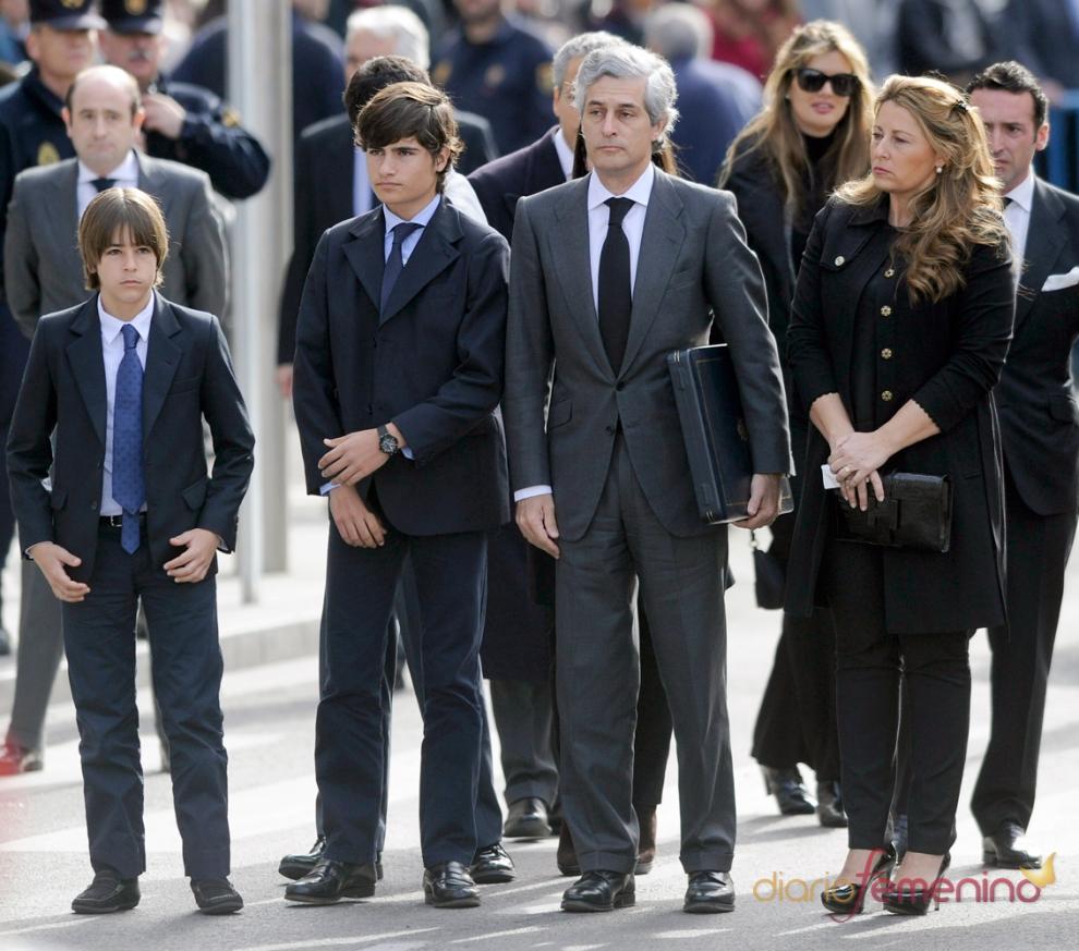 La familia de Adolfo Suárez, en el Congreso de los Diputados
