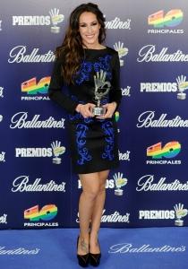 Malú, una de las vencedoras en la gala de los 40 Principales