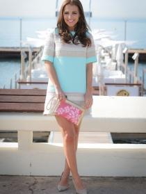 Paula Echevarría, su estilismo más dulce en rosa y azul