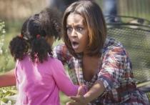 Michelle Obama, completamente involucrada en los juegos de los niños