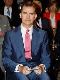 El Príncipe Felipe, un reconocido hincha del Atlético de Madrid