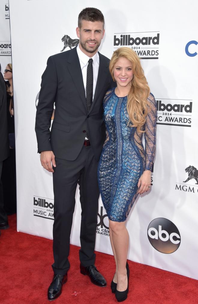 Shakira presume de Gerard Piqué en los Billboard 2014