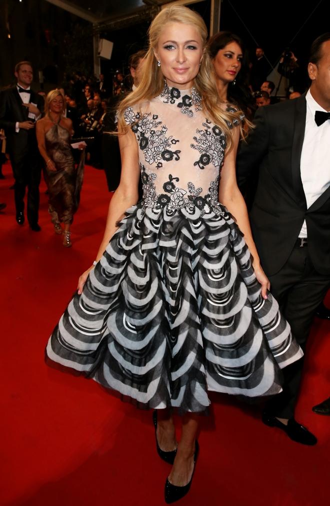 Paris Hilton, fiel a su cita en Cannes