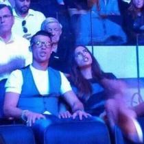 Cristiano Ronaldo, un gafapasta e Irina Shayk, en la noche más aburrida de su vida