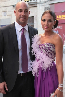 Pepe Reina y su mujer Yolanda Ruiz se casaron en el año 2006