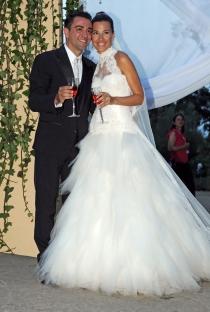 Xavi Hernández y Nuria Cunillera, marido y mujer desde el año 2013