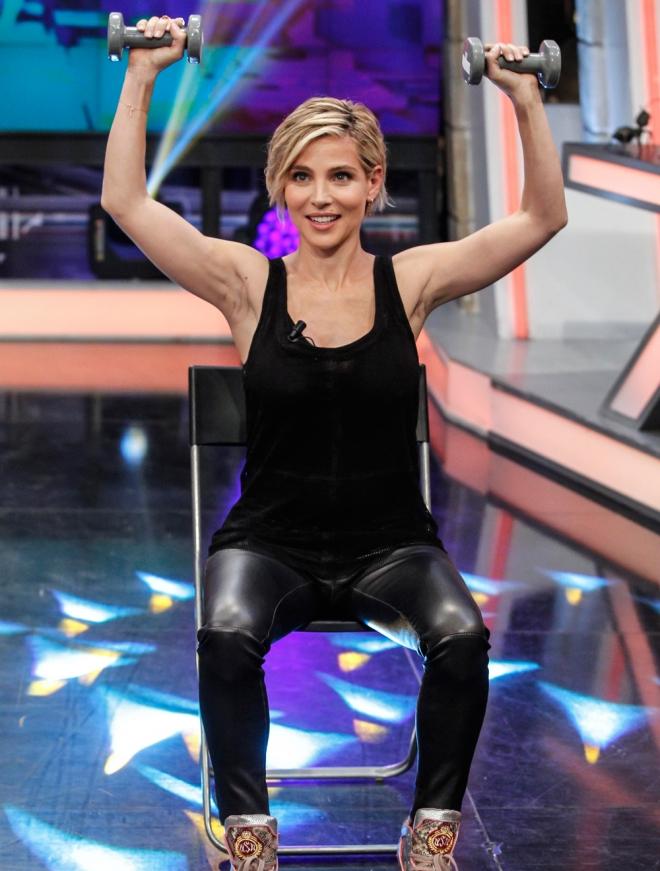 Elsa Pataky se pone en forma en 'El Hormiguero'