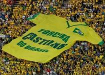 La espectacular animación de la hinchada brasileña