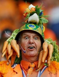 La afición holandesa se lo pasó en grande en el primer partido