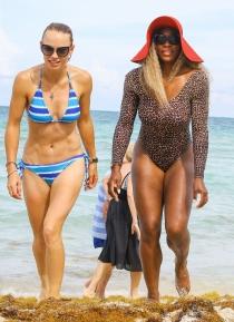 Las tenistas Serena Williams y Caroline Wozniacki de vacaciones en MIami
