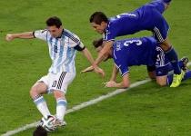 Messi se estrenó con gol en su primer partido del Mundial 2014