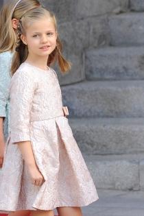 Leonor, Princesa de Asturias, en la coronación de su padre Felipe VI