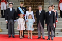 La Familia Real, junto a Mario Rajoy y los presidentes del Senado y el Congreso