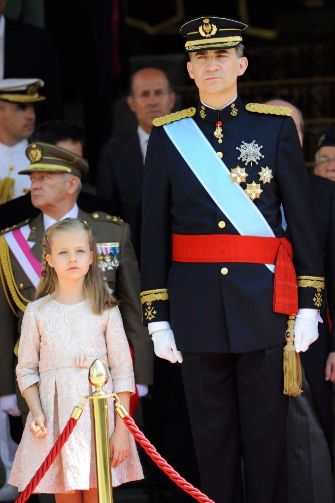 Felipe VI, Rey de España, y Leonor, Princesa de Asturias
