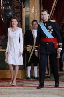 Letizia y Felipe llegan al besamanos posterior a la coronación