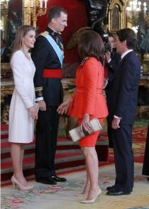 Ana Botella y Jose María Aznar saludan a Letizia y Felipe