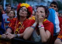 La afición española sufrió con la eliminación de su equipo