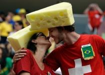 La sabrosa afición suiza en el Mundial de Brasil
