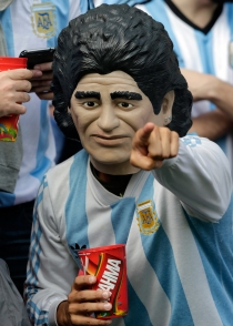 'Maradona' no se perdió la victoria de Argentina contra Nigeria