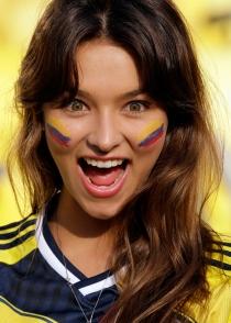 Colombia tiene a las aficionadas más guapas del Mundial 2014