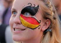 La afición de Alemania celebró el pase a cuartos de final